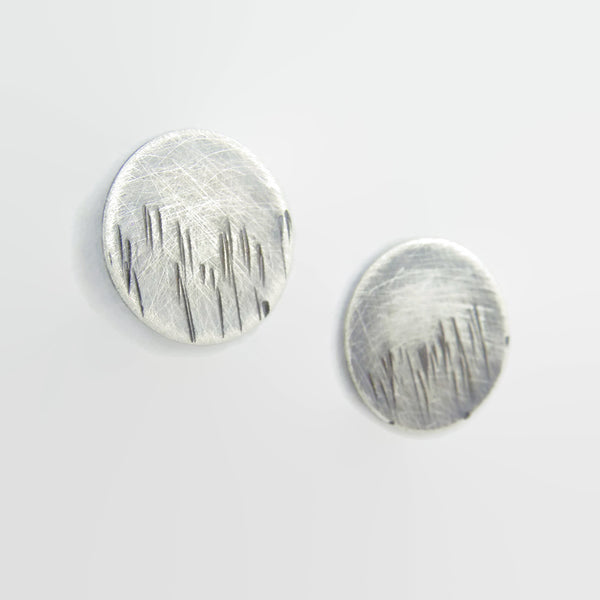 Blackened Blades of Grass Disc Studs