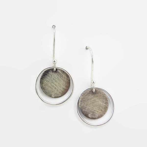 Sterling Silver Eclipse Earrings