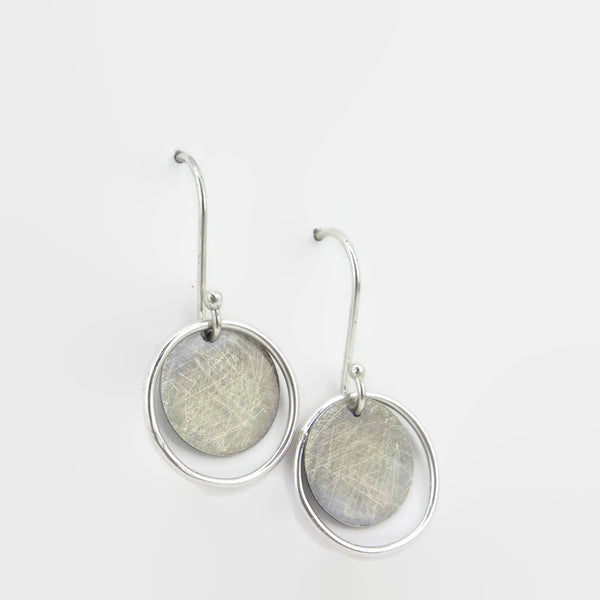 Sterling Silver dangle eclipse earrings