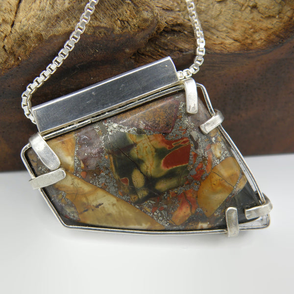 Jasper Geometric Necklace