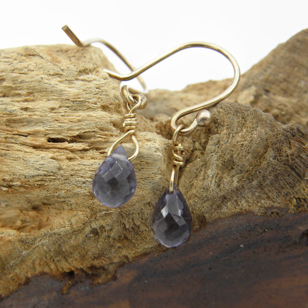 Iolite Teardrop Earrings