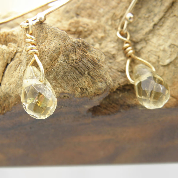 Citrine Teardrop Earrings