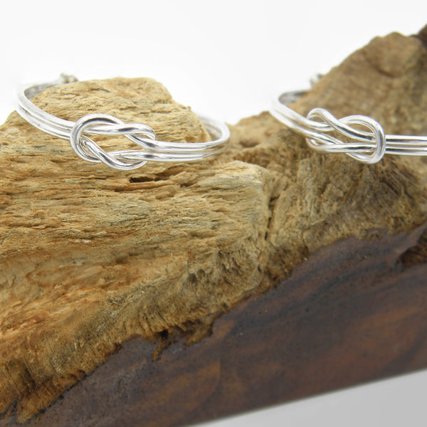 Infinity Knot Hoop Earrings