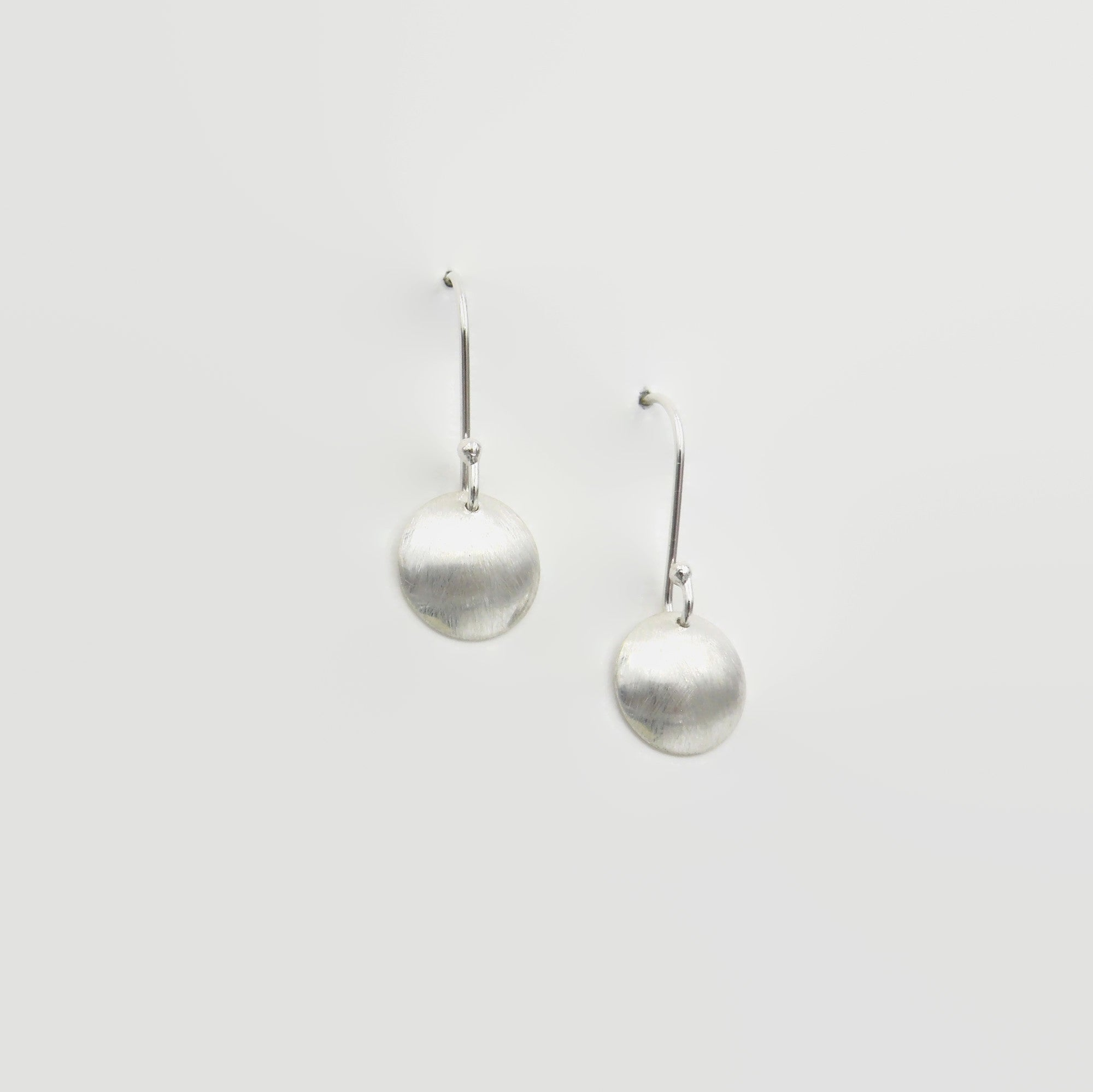 Brushed Dome Dangle Earrings