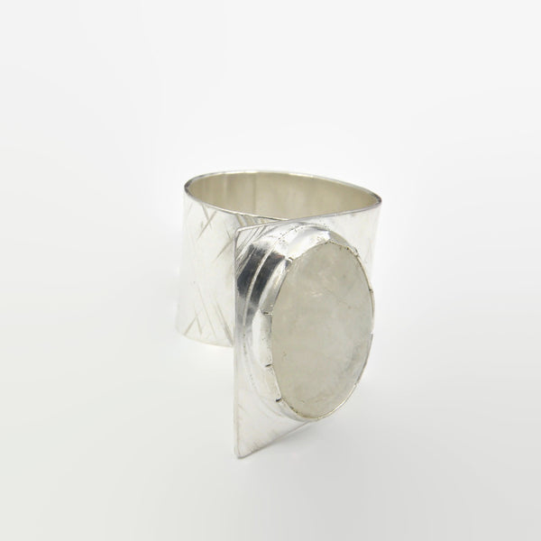 Moonstone Fold Over Ring