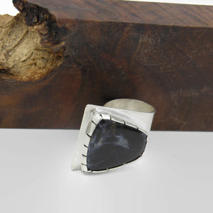 Pietersite Fold Over Ring