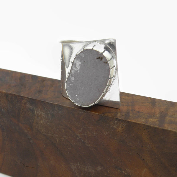 Druzy Fold Over Ring
