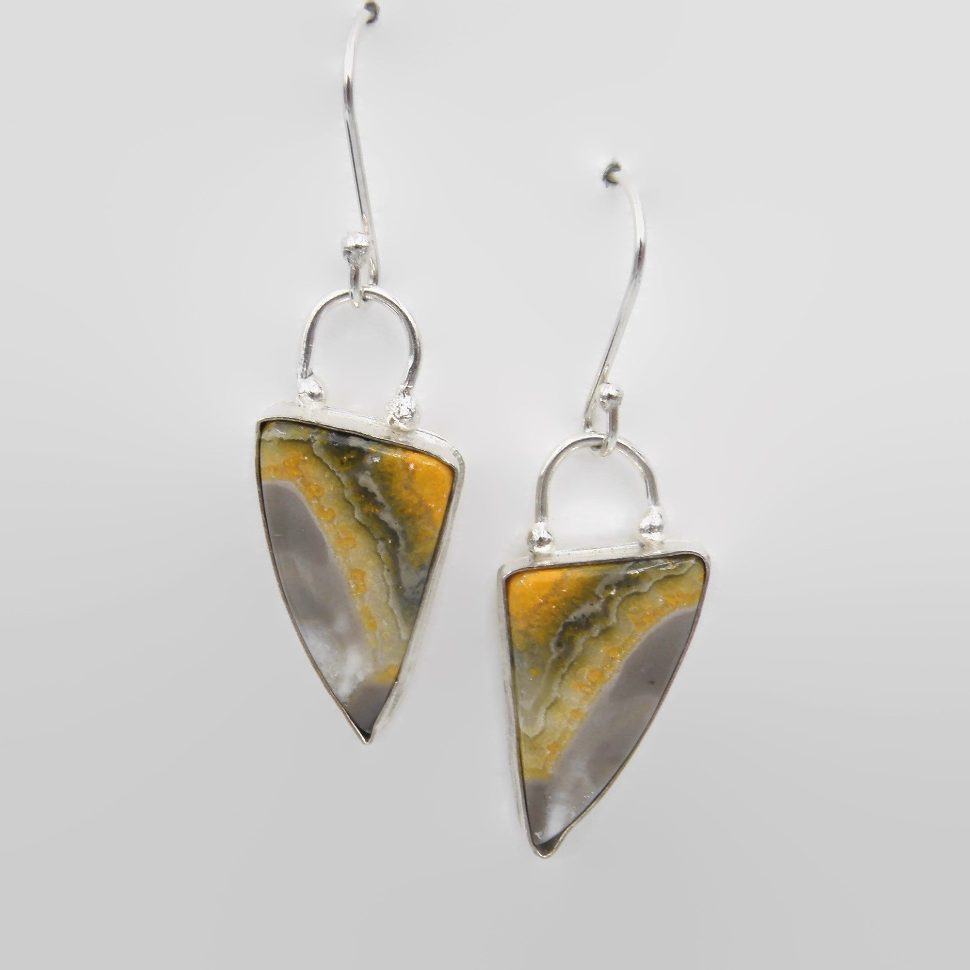 Bumblebee Jasper Statement Earrings
