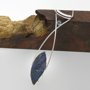 Long Elegant Statement Necklace-Labradorite