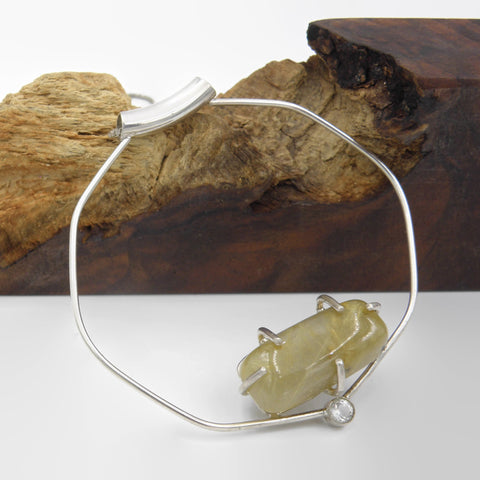Statement Necklace-Rutilated Quartz