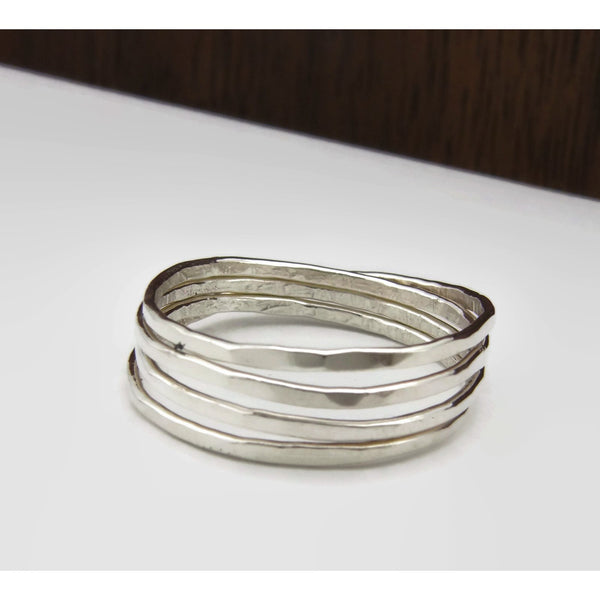 Round and Round - Sterling Silver Stacker Ring