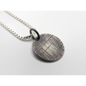 Cross Hatch Pendant- Black
