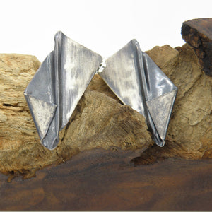 Fold Form Stud Earrings