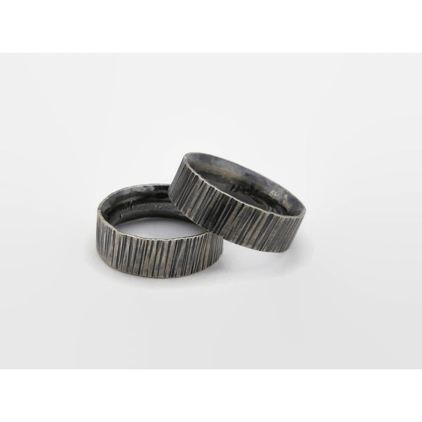 Grooved Comfort Fit Band - Black