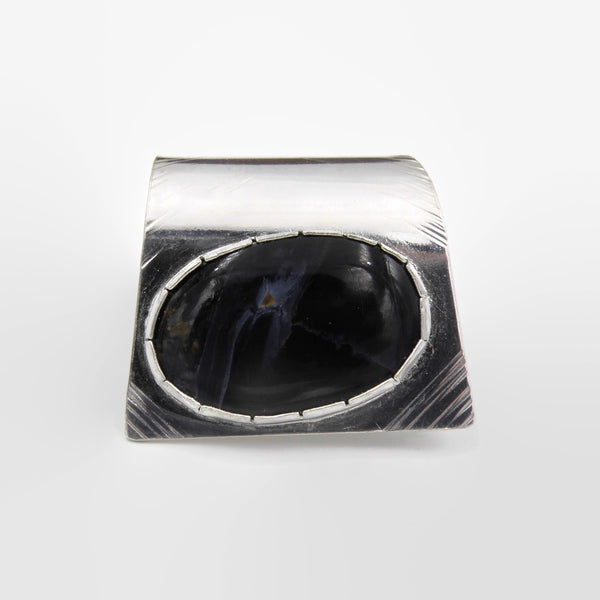 Pietersite Fold Over Ring-Oval