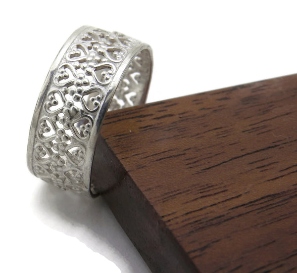 Queen Ring - Sterling Filigree Ring