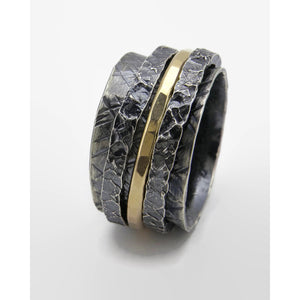 Triple Chunky Spinner Ring