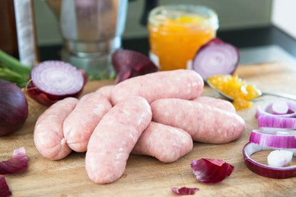 Red Onion and Marmalade Sausages