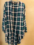 Flannel Bell Sleeved Duster