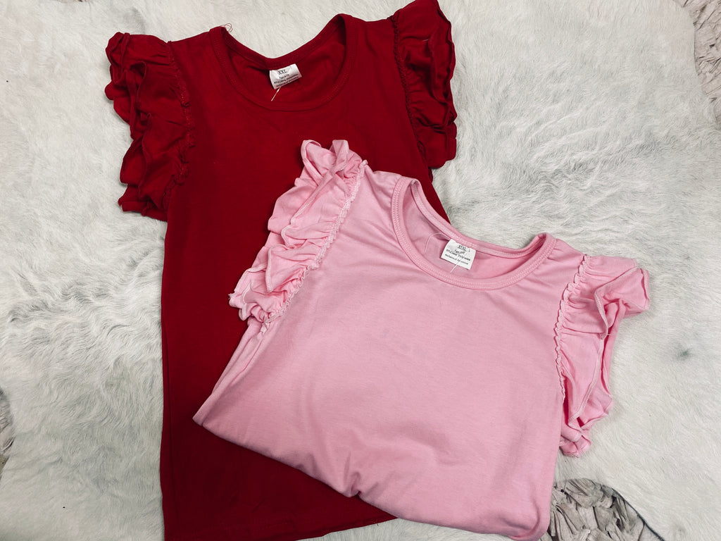 Toddler Ruffle Sleeve Top