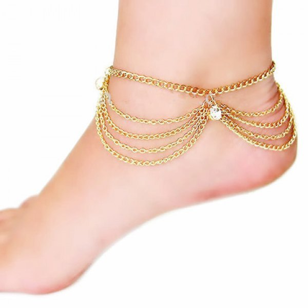 rose for fashion p chain gold butterfly ankle women jewellery anklet womens s
