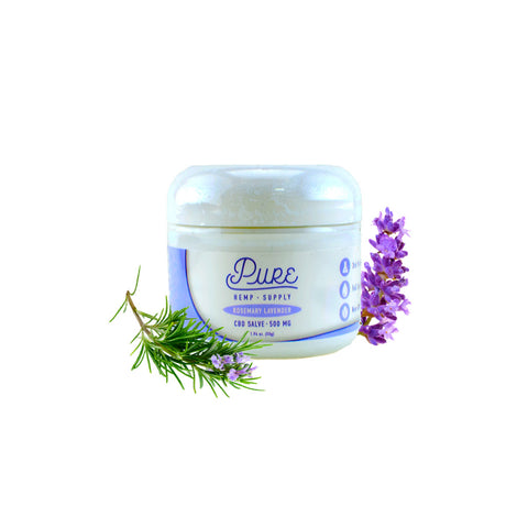 Pure Hemp Supply | Hemp Salve - 500mg - Rosemary + Lavender