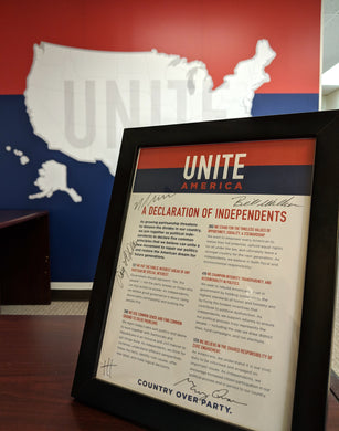 Limited Edition Signed Declaration of Independents