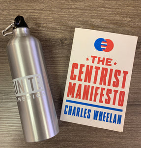 Holiday Gift Set - Centrist Manifesto & Unite America Water Bottle