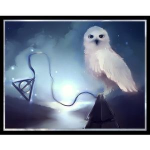 Diamond Embroidery Harry Potter Deathly Hallows owl picture
