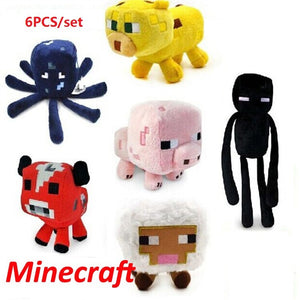 Minecraft Stuffed Plush Toys (6pcs)