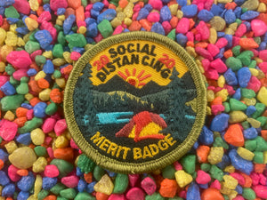 Social Distancing Merit Badge Iron-On Patch