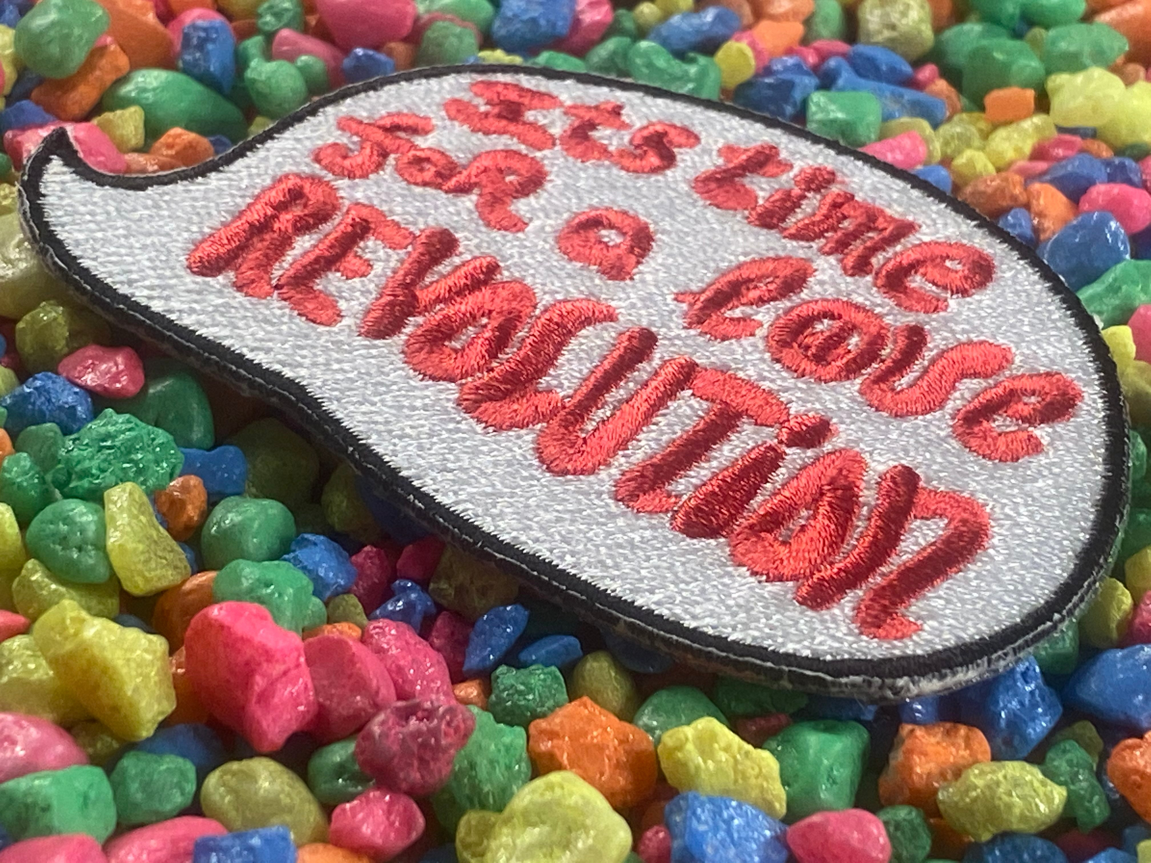It's Time For a Love Revolution Iron-On Patch