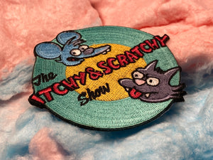 The Itchy and Scratchy Show Iron-On Patch