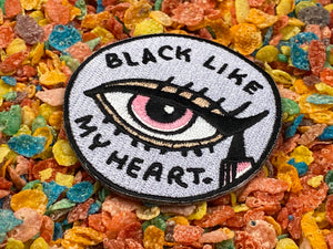 Black Like my Heart Makeup Mascara Iron-On Patch