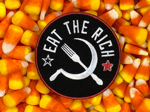 Eat The Rich Scialism / Anarchy / Resist / Revolution Iron-On Patch
