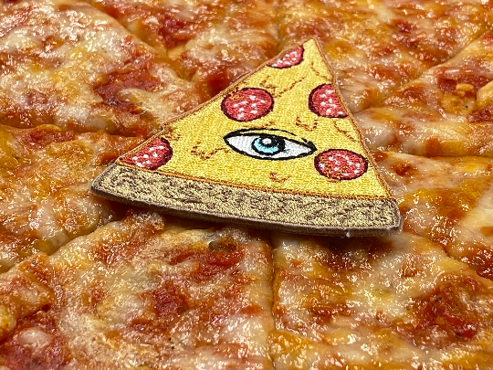 In Pizza We Trust / CRUST Pyramid Eye Iron-On Patch