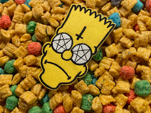 Satanic Demon Posessed Bart Iron-On Patch