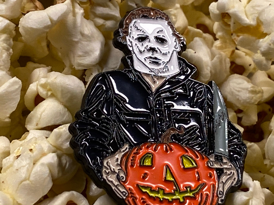 Michael Myers Halloween Horror Movie Jack o' Lantern Soft Enamel Pin