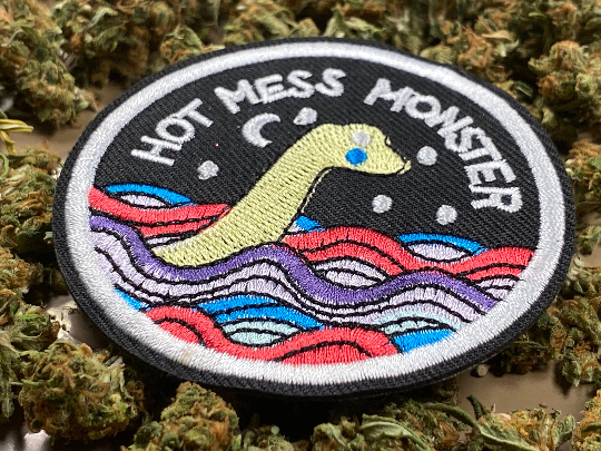 Cryptozoology Cryptid Hot Mess Monster Iron-On Patch