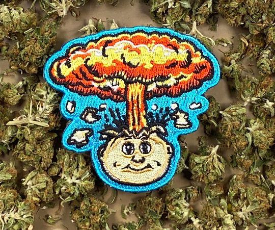 Garbage Pail Kids / GPK Adam Bomb a.k.a. Blasted Billy Iron-On Patch