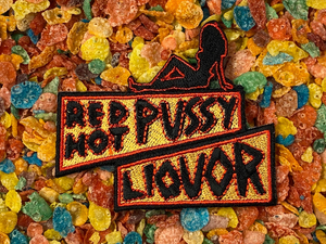 Rob Zombie House of 1,000 /1000 Corpses Neon Sign Red Hot Pussy Liqour / Licker Iron-On Patch