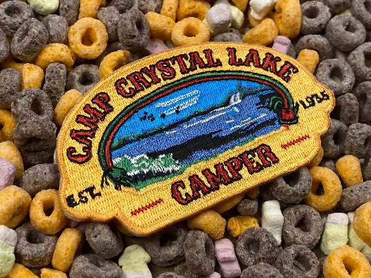 Camp Crystal Lake Counselor / Camper Jason Vorhees Friday the 13th Merit Badge Iron-On Patch