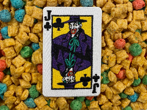 1989 Batman Movie Joker / Joker's Wild Playing Card Iron-On Patch