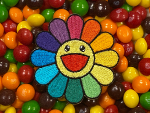 LGBTQ+ Pride Rainbow Flower Iron-On Patch