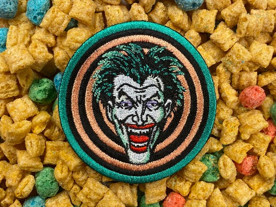 1989 Batman Movie Joker Goon logo Iron-On Patch