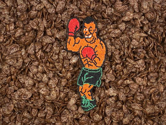 Mike Tyson's / Tyson Punchout 8-bit Sprite Iron-On Patch