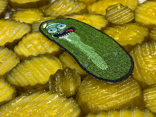 Pickle Rick and Morty Iron-On Patch