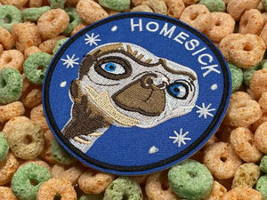 E.T. Extraterrestrial Alien UFO 1984 Movie Phone Home Homesick Iron-On Patch