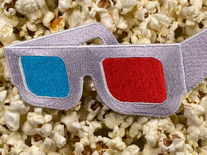 Retro 3D Movie Glasses Iron-On Patch