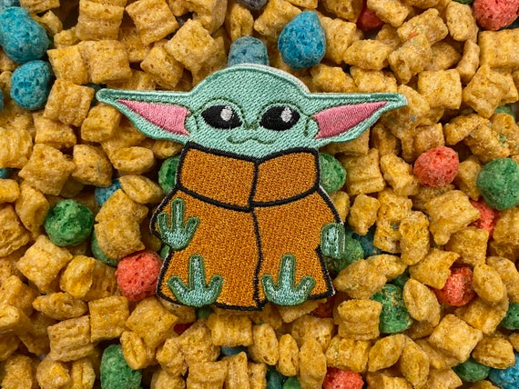 Baby Yoda Iron-On Patch